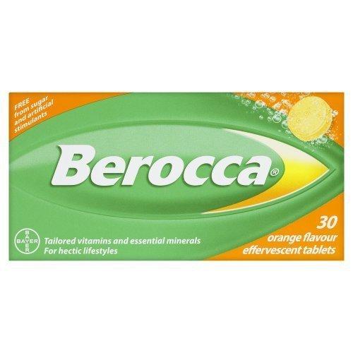 Berroca Performance - Orange Flavor - 30 Effervescent Tablets - Long Expiry Date - Genuine, Factory Sealed