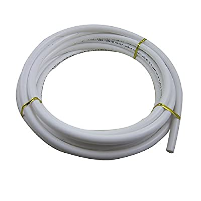 "TmallTech 3/8"" Tube 5m Meters white PE Tubing Hose Pipe for RO Water Reverse Osmosis 15ft"