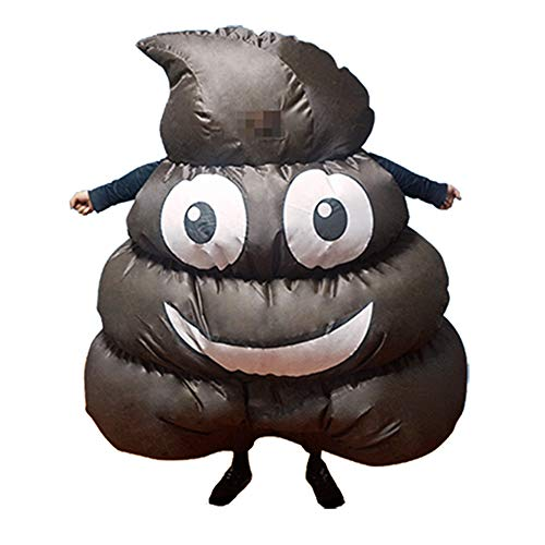 HUAYUARTS Men's Inflatable Costume Brown Poop Boys Blow up Halloween Christmas Cosplay Fancy Dress