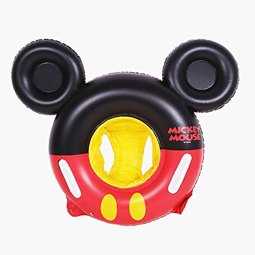 NF Orange Swimming Float Mickey Mouse Cartoon Kids Baby Swimming Ring Inflatable Pool Floating Round Pool Children Toy Float Thick (Mickey Sitting - Round Mickey Mouse