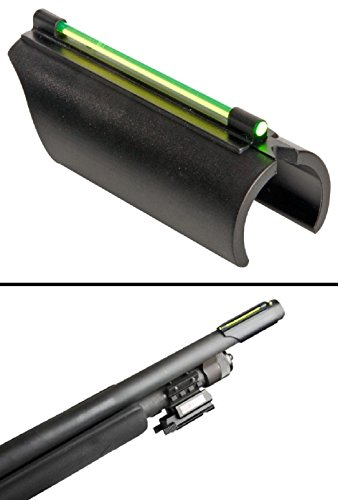 Ultimate Arms Gear 12/20 Gauge/Shotgun Glowing Green Line Plain Barrel Front Fiber Optic Sight Mossberg 500/535/590/835/Maverick 88 Pump Action Sporter
