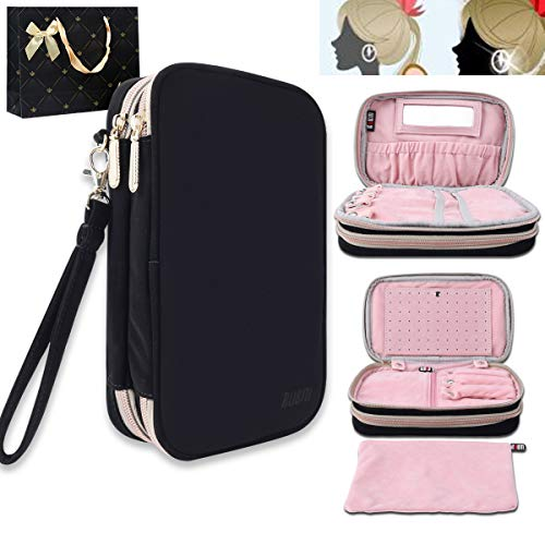 BUBM Travel Soft Protective Jewelry Storage Carrying Case Travel Organizer Pouch Bag Stud Earrings Board Gift Pack