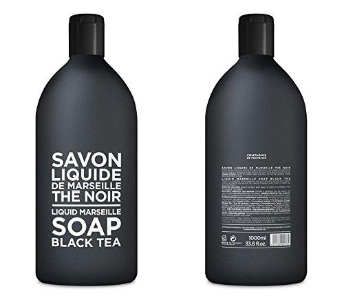 Compagnie de Provence Savon de Marseille Extra Pure Liquid Soap - Black Tea - 33.8 fl oz Plastic Bottle Refill