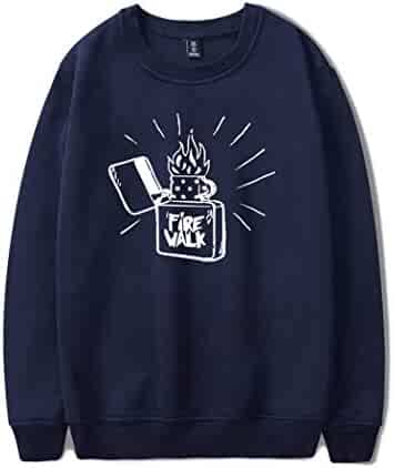 520854c05 PongYi Hoodie Sweatshirt Men Women Print Funny Casual Autumn Winter Pullover  Darkblue M