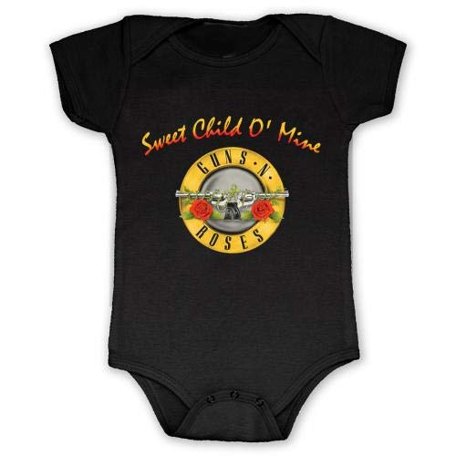 Bravado Unisex Baby Guns N' Roses Sweet Child Onesie 12M Black (Gun N Roses Sweet Child O Mine Live)