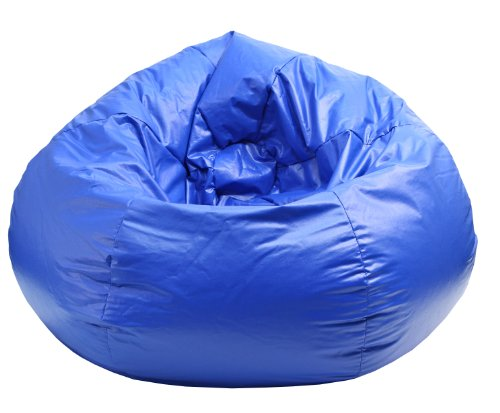 Gold Medal Bean Bags 30010509804 Medium Wet Look Vinyl Beanbag, Tween Size, Blue ()