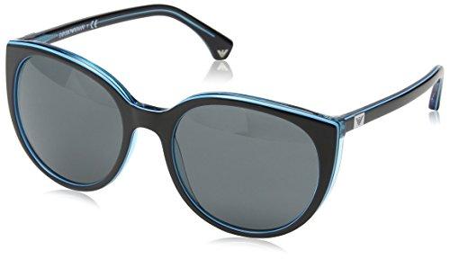 Emporio Armani EA 4043 Women's Sunglasses Black / Azure Line / Azure - Sunglasses Giorgio Armani Womens