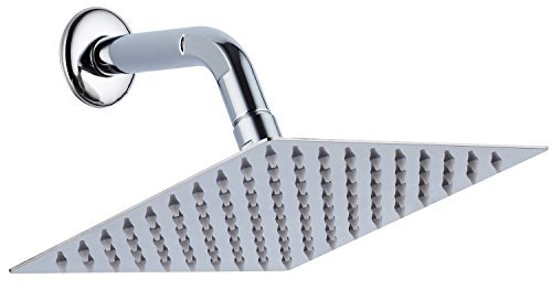Purchase A-Flow Luxury Square Large 8 Stainless Steel Rainfall Shower head - Contemporary Thin and ...