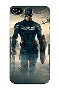 120550e5861 Captain America Scarle Johansson Samuel L Jackson Marvel The Winter Soldier Black Widow Nick Fury Protective Case Cover Skin/iphone 4/4s Case Cover Appearance