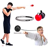Boxing Ball Reflex Fight Ball for Improving Speed Reactions and Hand Eye Coordination,Boxing Punch Equipment for Boxing, MMA and Other Combat Sports Training and Fitness