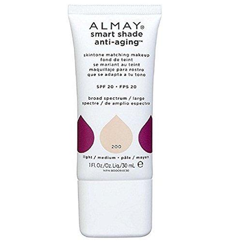 Alm Ss Aa Mkup 200 Lght/M Size 1 Almay Smart Shade Anti-Aging Skintone Makeup 200 Light/Medium 1oz