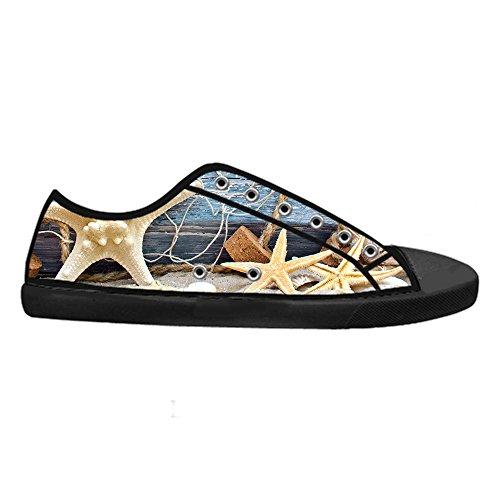 Design Donna Fresco Flat da Sneaker Lacci Chiusura di Personalizzato Stella Pesce Traspirante Top Low Canvas CHEESE Nero Scarpe Classico con Stile 0f6wRK4Eqx