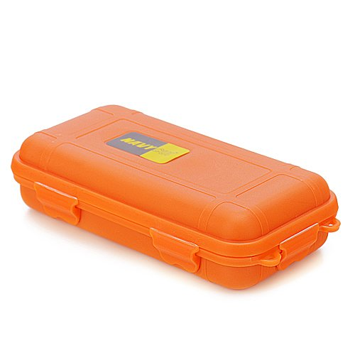 HDE Waterproof Shockproof Dry Box High Visibility Orange Storage Container Case with Internal Foam Padding and O-Ring Seal Floating Hard Shell Survival Box