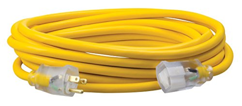 Southwire 01688 12/3 made in America Insulated Outdoor Extension Cord with Lighted End, 50-Foot