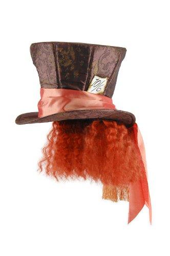 [Alice in Wonderland Mad Hatter Hat with Hair, Disney] (Halloween Costume Men Long Hair)