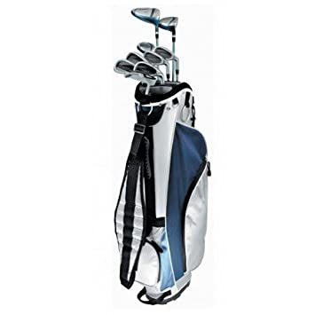 AGXGOLF New Ladies Right Hand Tec Plus Golf Club Set w Ladies Cart Bag Driver 3 Wd Hybrid 6-PW Free Putter Petite, Regular or Tall Length