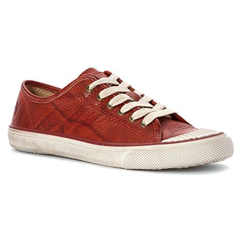 Frye Women's Betty Low Lace Burnt Red Dakota Sneaker 8 B (M)