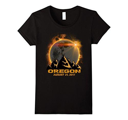 Womens Oregon Solar Eclipse Tshirt Xl Black