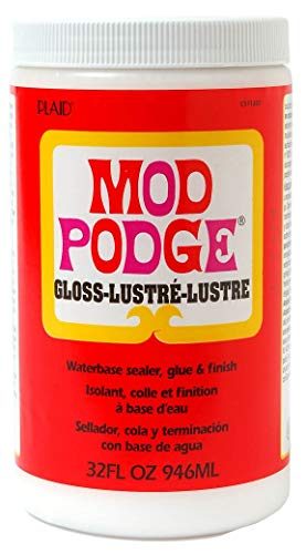 - Mod Podge Waterbase Sealer, Glue and Finish (32-Ounce), CS11203 Gloss Finish