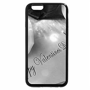 iPhone 6S Funda, iPhone 6Funda (Blanco y Negro)–Happy día de los Enamorados