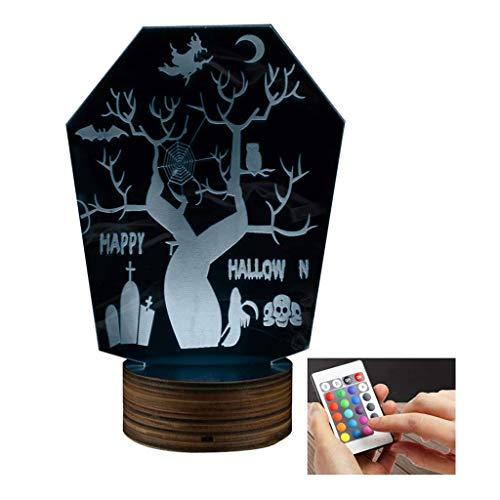 3D Led Lamp Halloween Horror Night Light Optical