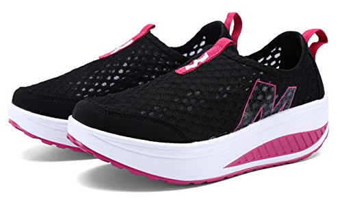 Fashion Walking Black Sneaker Women's Mesh Shoes Running Casual JiYe On Hollow Shoes Slip Outdoor FTqTzZw