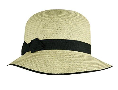 Mysocks® Ropa de playa Selección de trajes de baño, sandalias, sombreros, bolsos y ropa Sombrero de paja con detalle de lazo negro