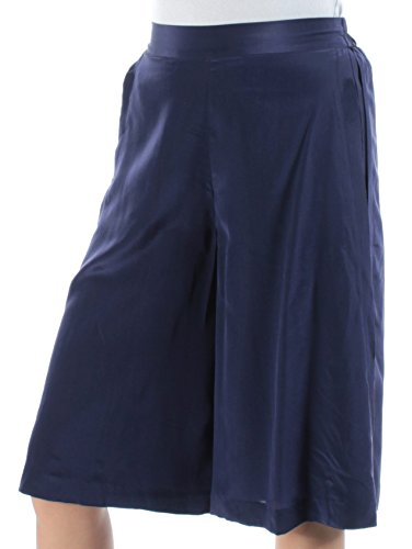 A|X Armani Exchange Armani Exchange Womens Silk Pull-On Culottes Blue - Suits Jeans Armani