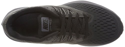 Nike Dames Zoom Winflo 4 Sportschoen Antraciet / Donkergrijs / Zwart