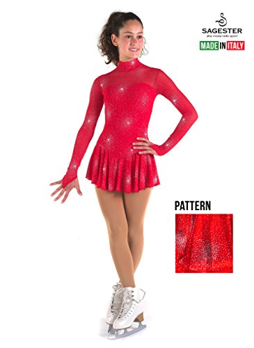 Dress Skating Make Figure - Sagester # 177 / Italy Hand-Made/Figure Ice Skating Dress/Size:M/Red