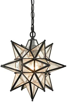 EUL 13 Inch Industrial Moravian Star Pendant Light