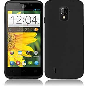 For ZTE Majesty Z796C Silicone Skin Cover Case + LCD SCREEN (Black)