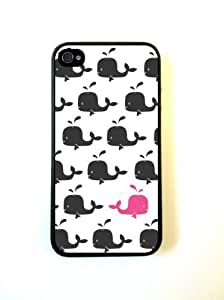 Hiding Pink Whale iPhone 4 Case Fits iPhone 4 & iPhone 4S by ruishername