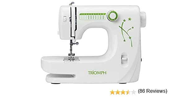 Triomph ETF1527 máquina de Coser, 33,5 x 14,5 x 24 cm, Blanco ...