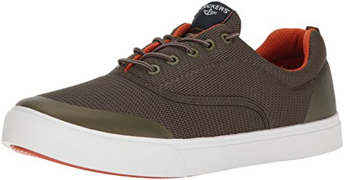 Hamnarbetare Mens Reed Mode Sneaker Oliv / Orange