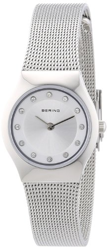 BERING Time 11923-000 Womens Classic Collection Watch with Mesh Band and scratch resistant sapphire crystal. Designed in Denmark.