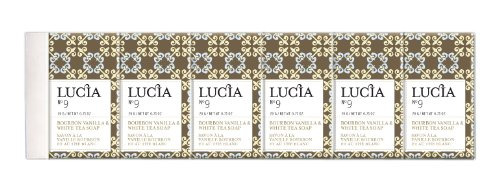 ( Lucia Guest Soap Set, Bourbon Vanilla and White Tea (Pack of 6))
