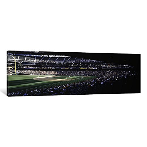 iCanvasART 1 Piece Baseball Players Playing Baseball in a Stadium, Safeco Field, Seattle, King County, Washington State, USA Canvas Print by Panoramic Images, 48 by 16