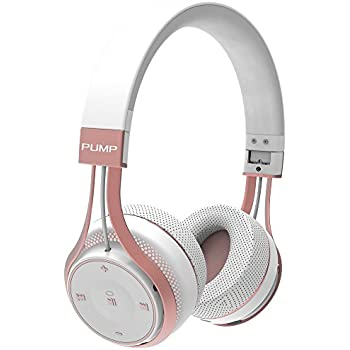BlueAnt - Pump Soul On Ear Wireless HD Headphones, Stylish, Audio with One Touch Controls (White Rose Gold)