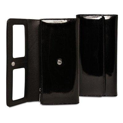 Patent Clutch Wallet Color: Black