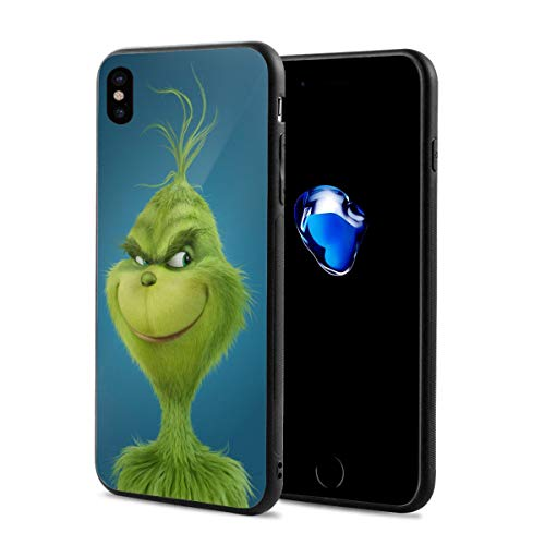 Amonee The Grinch Stole Christmas Phone Case for iPhone X,Full Protective,Anti-Scratch Back Black,Drop Protection,Cushion -
