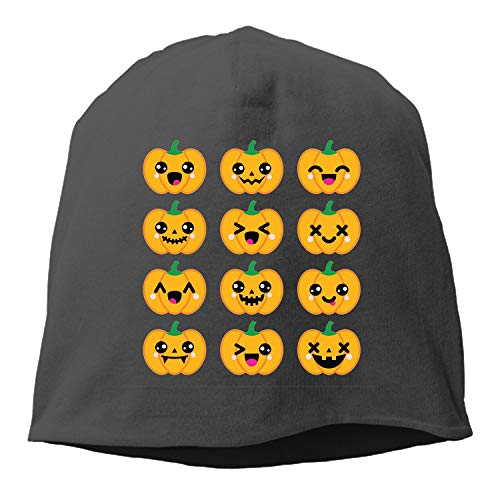 Halloween Kawaii Pumpkin Knitted Cap Trendy Warm Chunky Soft Stretch Cable Knit Slouchy Beanie Hat ()
