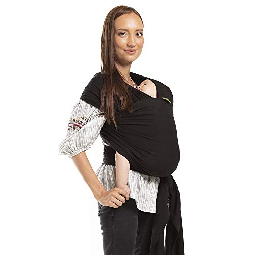 Boba Wrap Baby Carrier, Bebe Oui – Original Stretchy Infant Sling, Perfect for Newborn Babies and Children up to 35 lbs