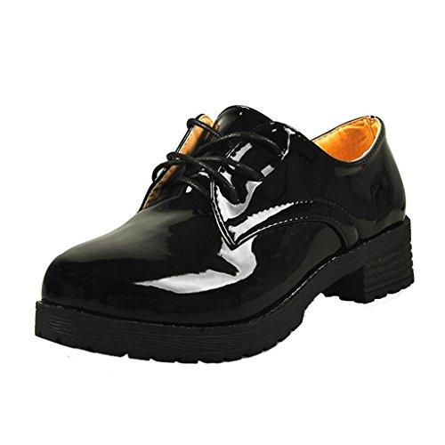 Oxfords Women Black Flat Dear Time Shoes Ev5qxCw
