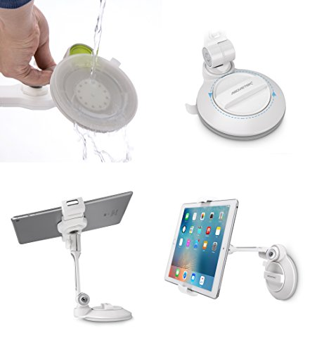 AboveTEK iPad Suction Cup Holder Tablet Stand, Large Sticky Pad Phone Holder on Smooth Surface Desk Countertop Mirror Window, Swivel Cell Phone Car Holder Tablet Mount 4-11'' iPhone 5 6 7 iPad Mini Pro by AboveTEK (Image #8)