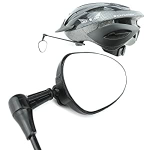 Race Icon Bike Helmet Mirror - Our Clear View Flat Lightweight Bicycle Mirror Is a Must Have for Any Road Cyclist +