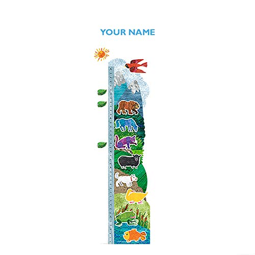 Brown Bear Personalized Growth Chart Wall Decal for Nursery, Kids Room