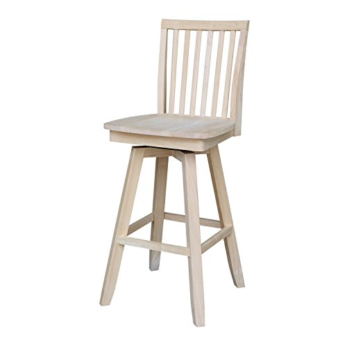 International Concepts Mission Barheight Stool with Swivel and Auto Return, 30