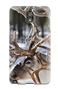Excellent Galaxy Note 3 Case Tpu Cover Back Skin Protector Reindeer