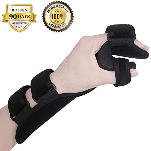 Wrist Fracture Splint - Function Resting Wrist Orthosis Night Hand Splint Support Immobilizer Finger Wrist Fracture Fixation Scaffold for Pain Tendinitis Sprain Fracture Arthritis Dislocation (Left)